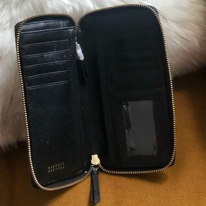 Barney's Black Zipper Wallet